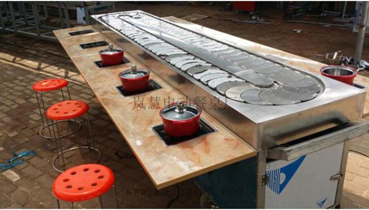 旋转火锅传送带设备厂家多少钱,旋转麻辣烫规格