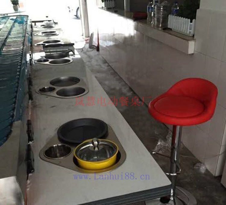 涮烤自助小火锅,烤涮一体机旋转设备定制