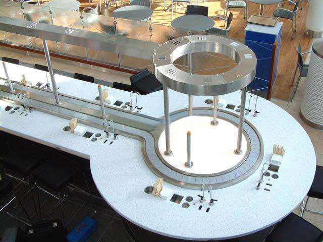 环形输送带圆形旋转小火锅设备电动餐桌