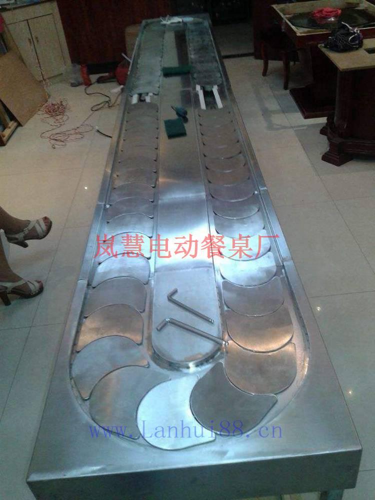 旋转长方形回转小火锅设备餐桌价格