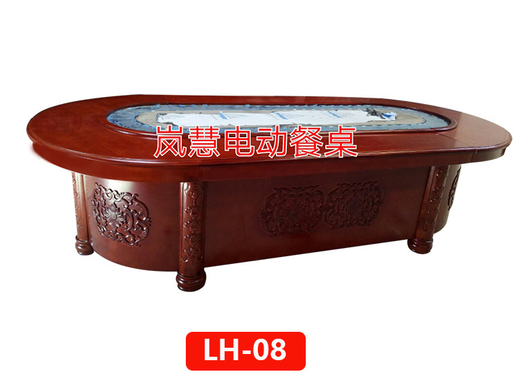 自助火锅传菜设备餐桌椭圆形电动餐桌厂报价