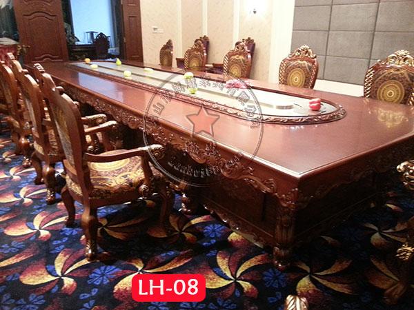 长方形回转火锅餐桌 LH-
