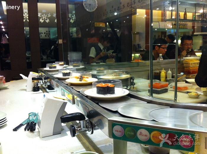 回转寿司餐桌 旋转寿司设
