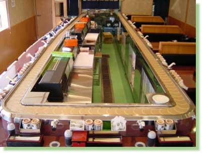 回转黄金莲输送带寿司餐桌设备 07