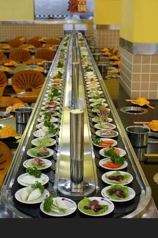 旋转麻辣烫设备自动传菜机芯小火锅旋转桌子