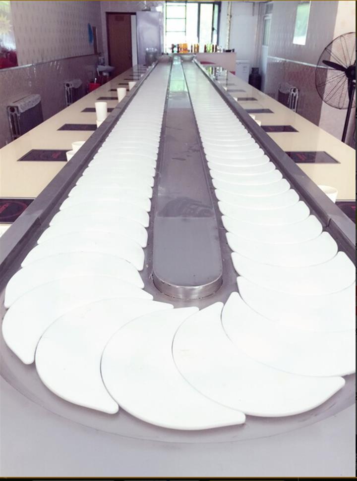 串串回转火锅生产厂家,旋转小火锅餐台餐桌