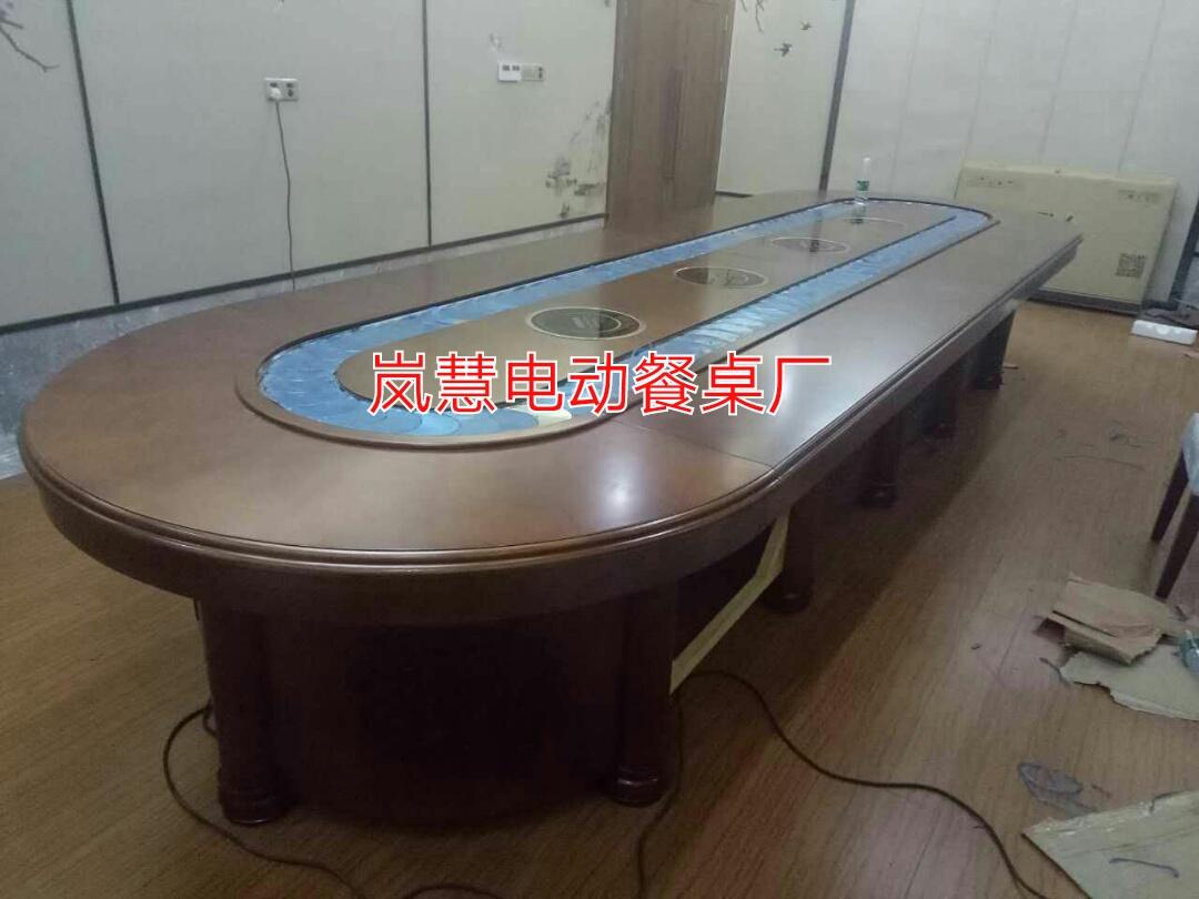旋转长方桌多功能设备餐桌机芯