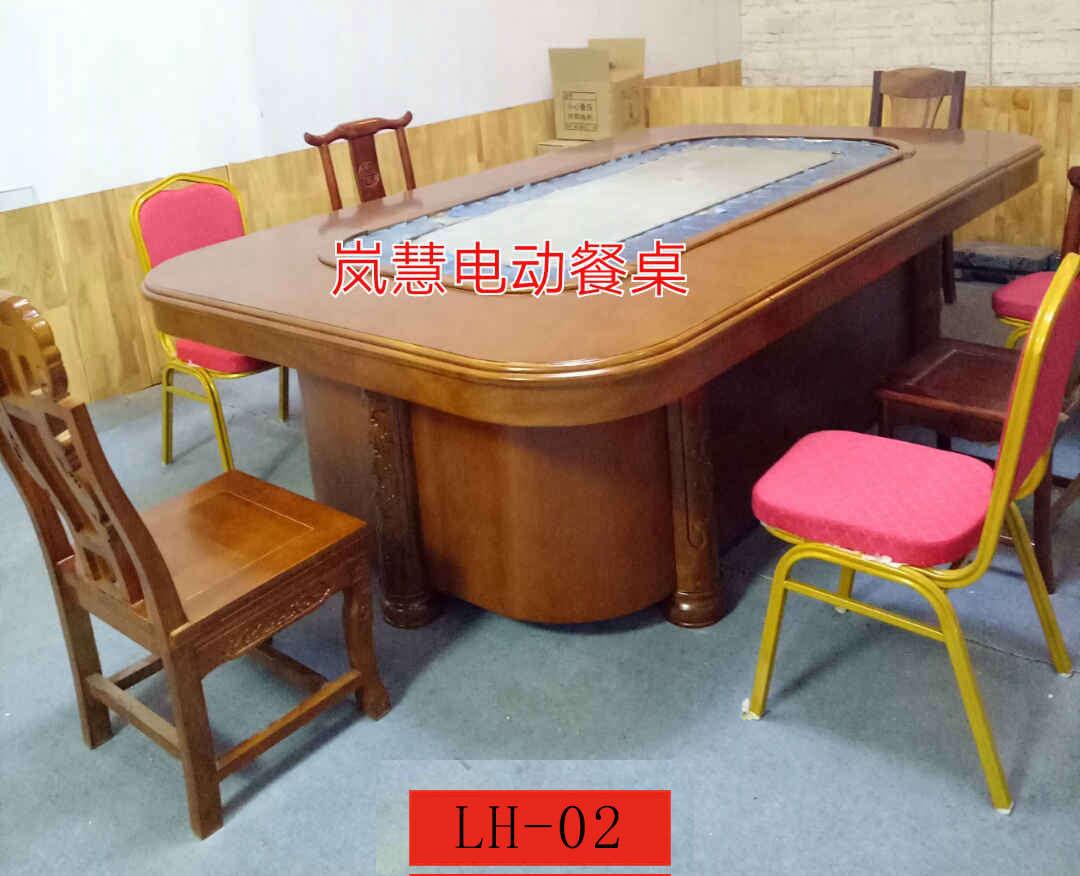 回转长方形电动餐桌输送带家庭回转餐桌