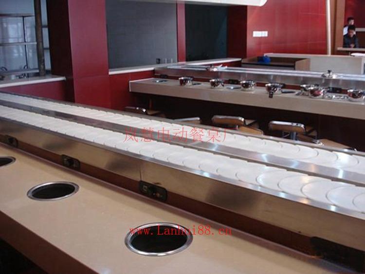 优质长方形回转火锅回转火锅餐桌设备价格