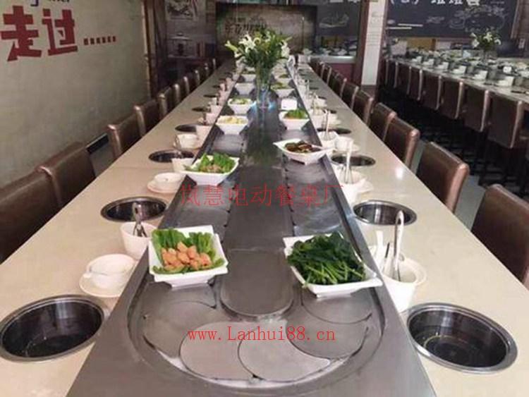 火锅电动餐桌制造商厂家直售